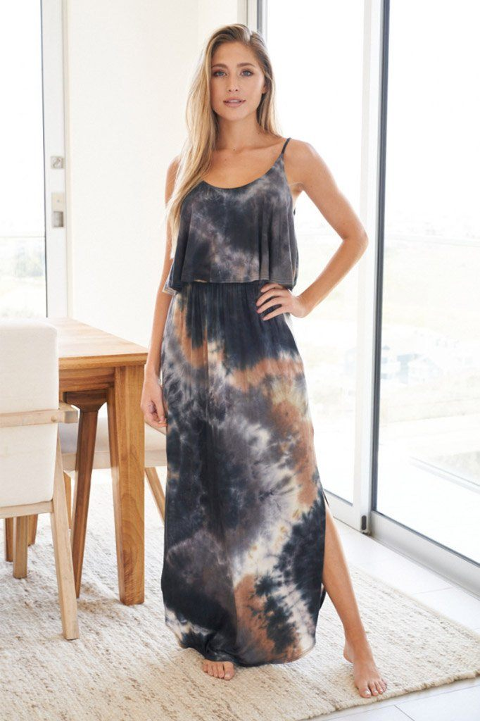 Once You Know Blue Multi Tie Dye Maxi Dress 1