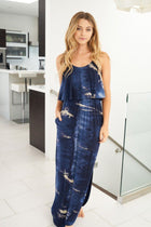 Once You Know Navy Blue Tie Dye Dress 1