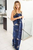 Once You Know Navy Blue Tie Dye Dress 4