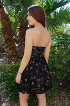 Own The Night Black Lace Strapless Skater Dress 2