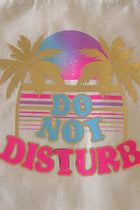Palm Trees and Do Not Disturb Printed Natural Canvas Tote Bag 3