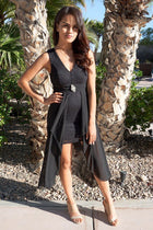 Perfect Evening Black Lace High Low Maxi Dress 1