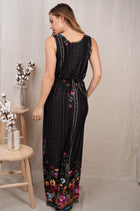 Picturesque Moments Black Floral Print Maxi Dress 2