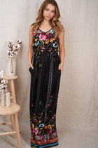 Picturesque Moments Black Floral Print Maxi Dress 4