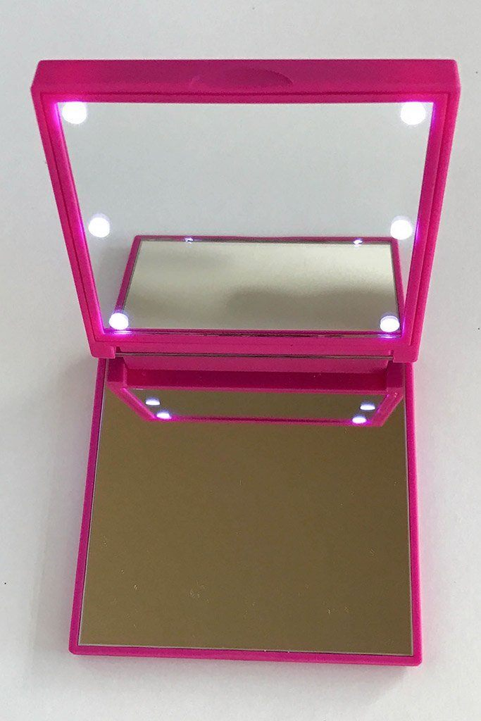 Pink Flo Led Lights Compact Mirror 4