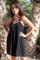 Play On Curves Crisscross Black Shift Dress 1