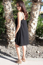 Play On Curves Crisscross Black Shift Dress 2