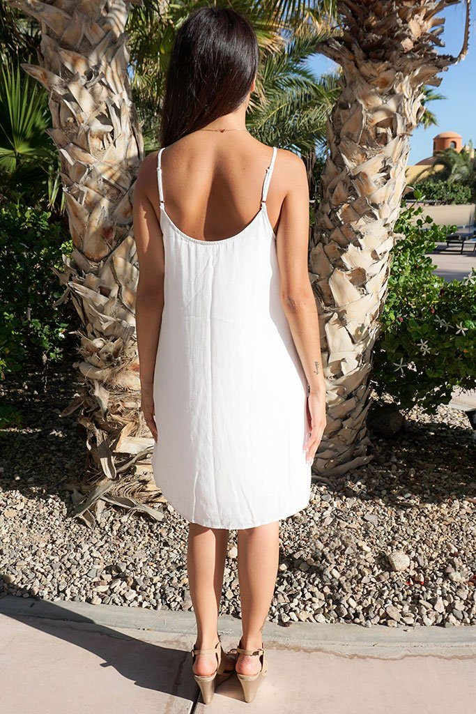 Play On Curves Crisscross White Shift Dress 3