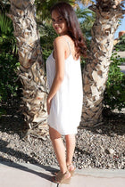 Play On Curves Crisscross White Shift Dress 2
