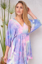 Pulling Out All The Stops Purple Multi Tie Dye Dress 3