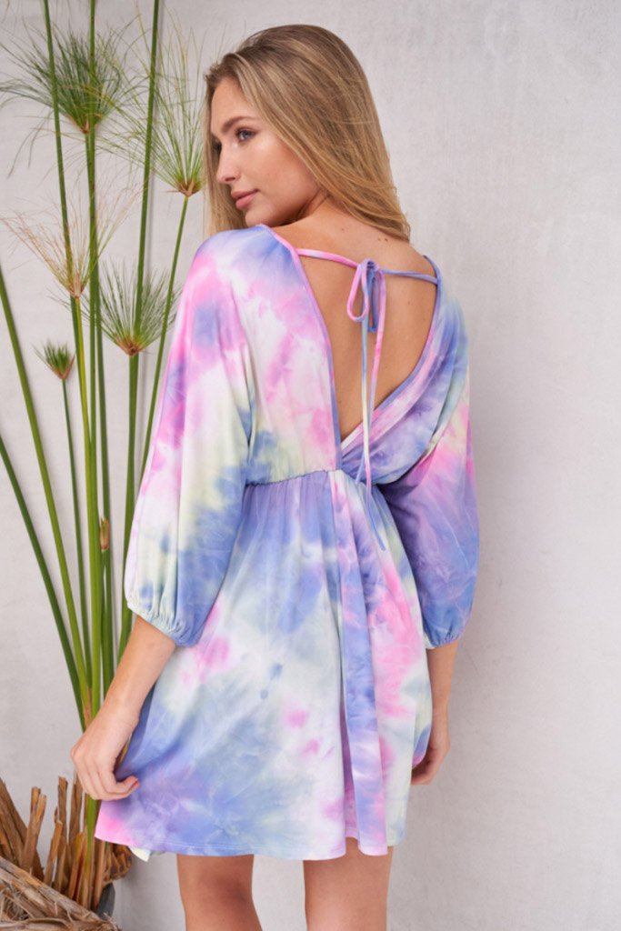 Pulling Out All The Stops Purple Multi Tie Dye Dress 2
