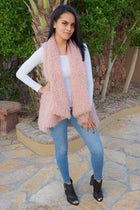Ready In No Time Rose Pink Faux Fur Sleeveless Vest 4