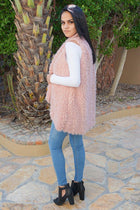 Ready In No Time Rose Pink Faux Fur Sleeveless Vest 2
