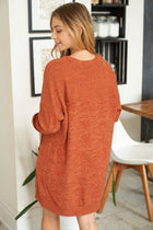 Right About It Cinnamon Long Sleeve Sweater Dress 2