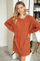Right About It Cinnamon Long Sleeve Sweater Dress 4