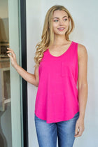 Right Direction Fuchsia Racerback Tank Top 4