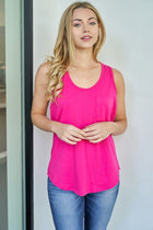 Right Direction Fuchsia Racerback Tank Top 3