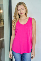 Right Direction Fuchsia Racerback Tank Top 1