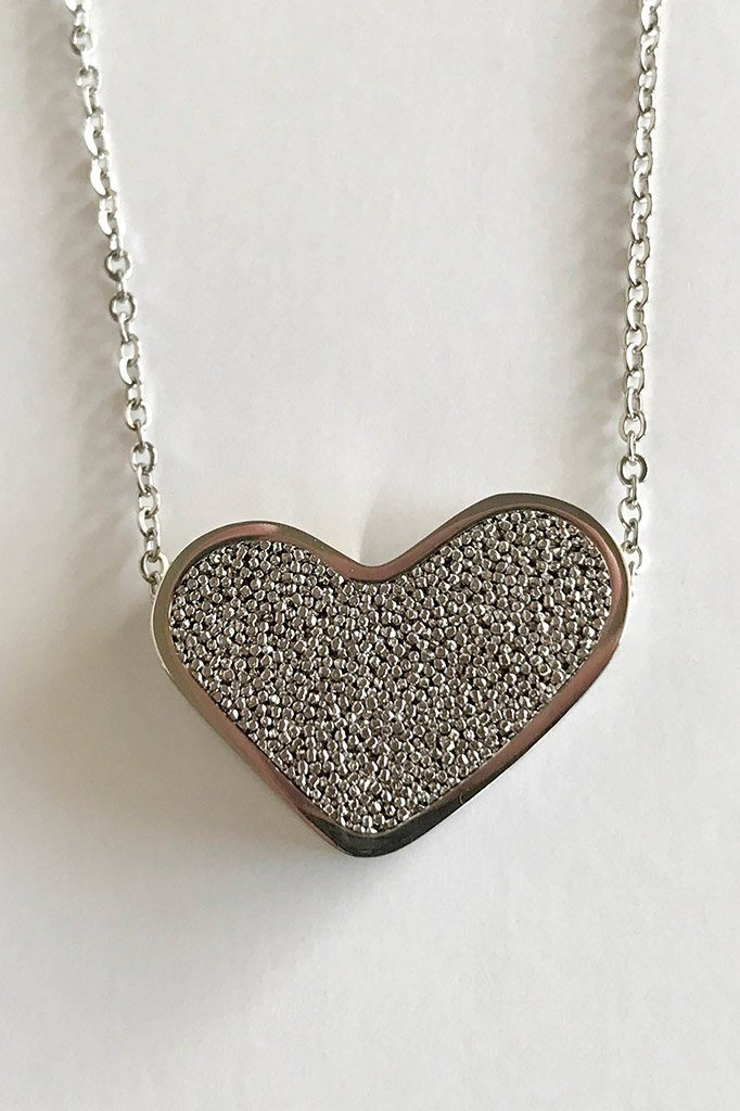 Sacred Silver Heart Perfume Necklace 3