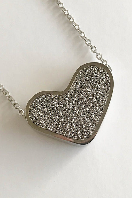 Sacred Silver Heart Perfume Necklace 1