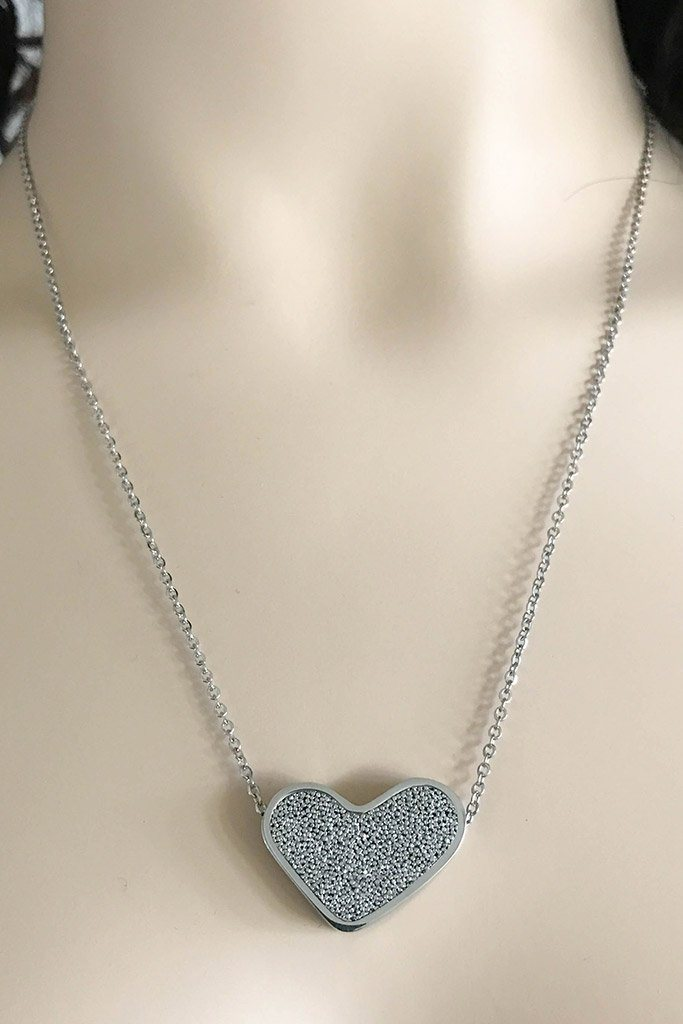 Sacred Silver Heart Perfume Necklace 2