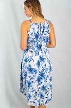 Seaside Vacation Resort Wear Ivory Floral Dress 2