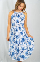 Seaside Vacation Resort Wear Ivory Floral Dress 4