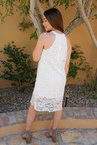 Secret Crush White Lace Halter Shift Dress 3