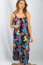 Sign Of The Times Muti Color Tropical Leaf Print Maxi Dress 4