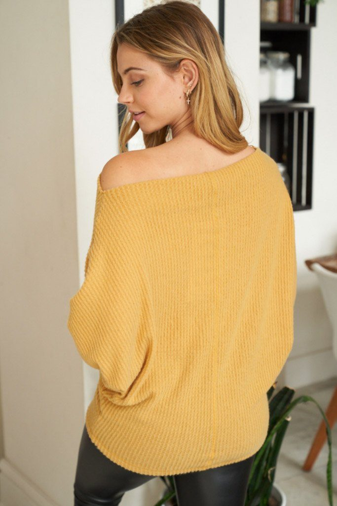Simply The Best Mustard Off The Shoulder Top 2