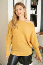 Simply The Best Mustard Off The Shoulder Top 3