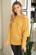 Simply The Best Mustard Off The Shoulder Top 4