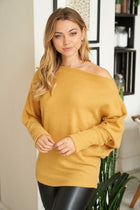 Simply The Best Mustard Off The Shoulder Top 1