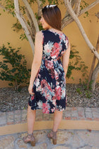 Singing At Sunset Blue Floral Print Sleeveless Dress 2