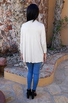 Staying Cozy Cream Long Sleeve Cardigan Sweater 3