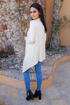 Staying Cozy Cream Long Sleeve Cardigan Sweater 2