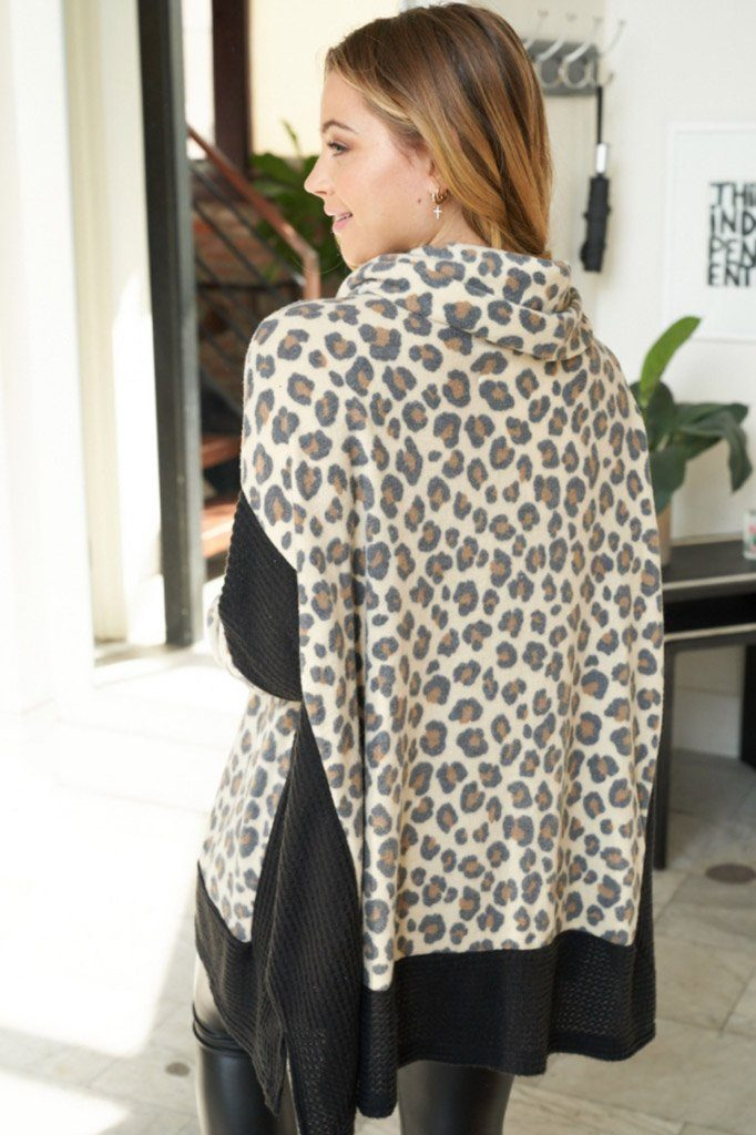 Steady As She Roars Cheetah Print Turtleneck Sweater 2