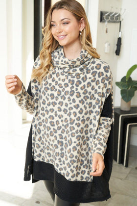 Steady As She Roars Cheetah Print Turtleneck Sweater 1