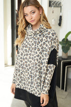 Steady As She Roars Cheetah Print Turtleneck Sweater 3