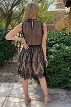 Still The One Black Eyelash Lace Midi Dress 4