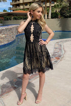 Still The One Black Eyelash Lace Midi Dress 3