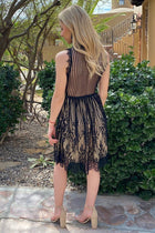 Still The One Black Eyelash Lace Midi Dress 2