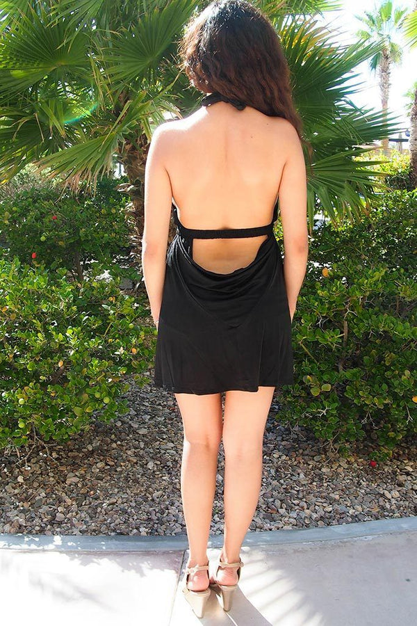 Sultry Nights Black Cutout Backless Bodycon Dress 3
