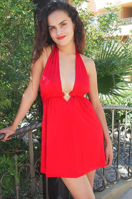 Sultry Nights Red Cutout Backless Bodycon Dress 1