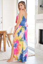 Summer In Paradise Pink Multi Tie Dye Maxi Dress 2