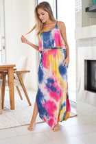 Summer In Paradise Pink Multi Tie Dye Maxi Dress 3