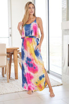 Summer In Paradise Pink Multi Tie Dye Maxi Dress 1