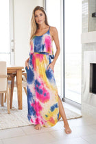 Summer In Paradise Pink Multi Tie Dye Maxi Dress 4