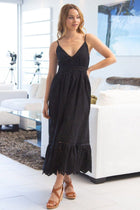Summer Rays Black Eyelet Maxi Dress 3