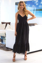 Summer Rays Black Eyelet Maxi Dress 4